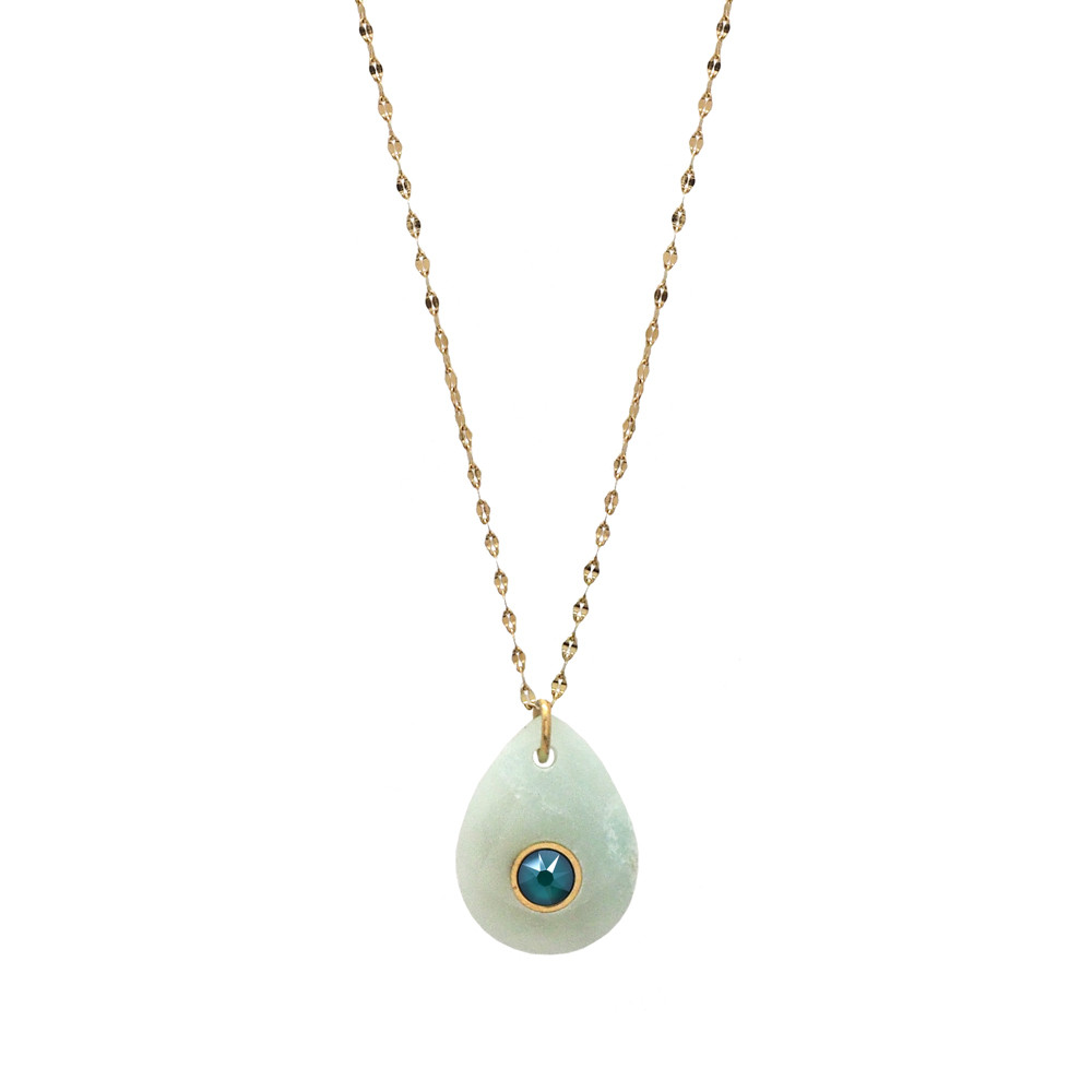 Collier Martha en amazonite et cristal de Swarovski© Royal Green