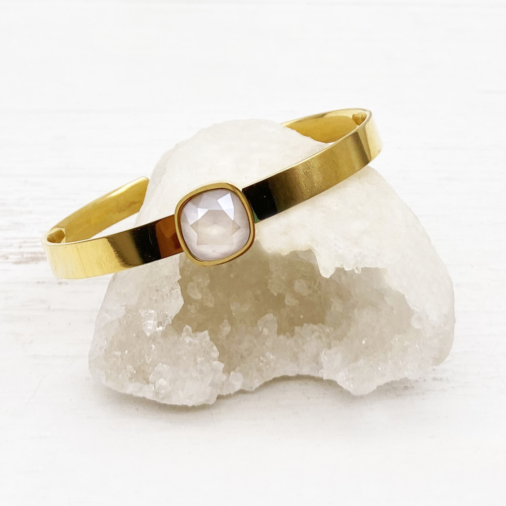 Bracelet jonc Bettina - Crystal Ivory Cream